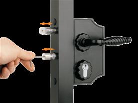 Large Ornamental Lock - adjusting