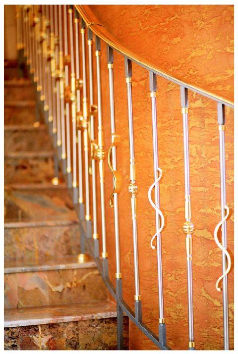 modern balustrade stainless steel solid brass fence. Black Bedroom Furniture Sets. Home Design Ideas