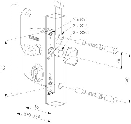 sliding-gate-lock-dimensions