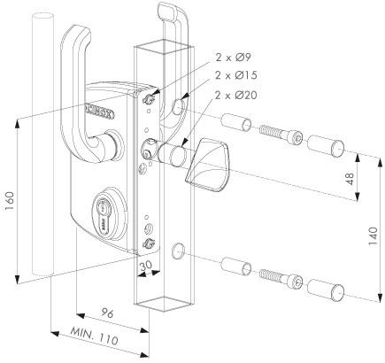 sliding-gate-lock-dimensions